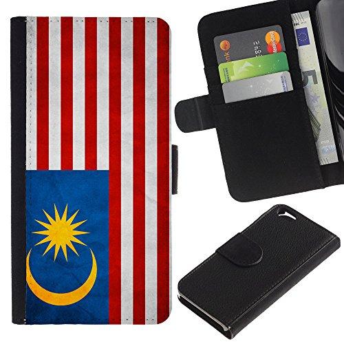 Graphic4You Vintage Uralt Flagge Von Philippinen Philippinische Design Brieftasche Leder Hülle Case Schutzhülle für Apple iPhone 6 / 6S Malaysia Malaysier