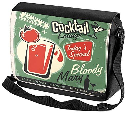 Umhänge Schulter Tasche Alkohol Bloody Mary Bedruckt Bar Kneipe