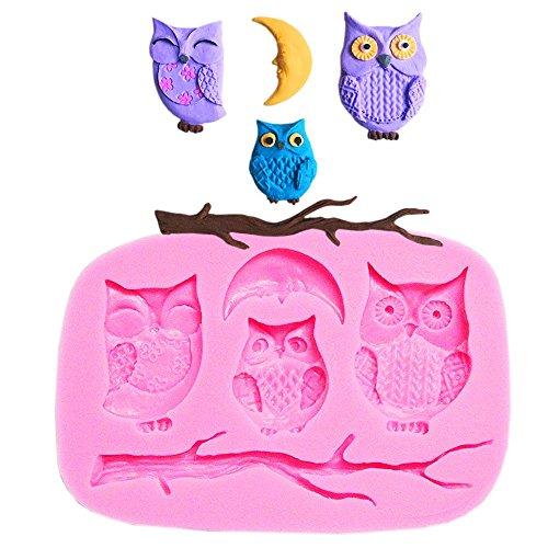 �r Kuchen und Kuchen mit drei Eulen, Mond, Halloween ()