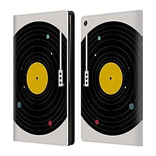 Head Case Designs Offizielle Florent Bodart Musik Überall Raum 2 Brieftasche Handyhülle aus Leder für Amazon Fire HD 8