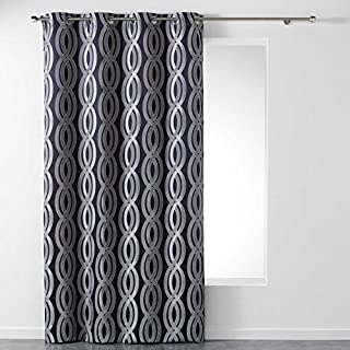 AHOME Homea Polyester Eyelet Curtains, polyester, navy blue, 260x140 cm