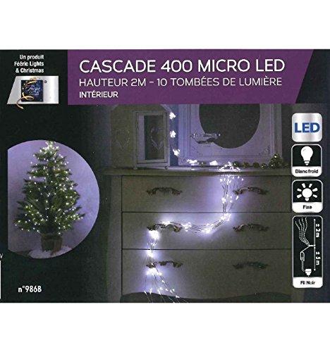 Guirlande Cascade Intérieur 400 LED   2 M   Blanc Froid
