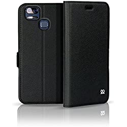 ASUS ZenFone ZOOM S ZE553KL Etui Folio Portefeuille Premium, Fermeture Magnet, Noir
