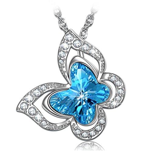 PAULINE & MORGEN Geschenk für Frauen Weihnachten Halskette für Frauen Damen Swarovski Kristall modeschmuck Kette Geburtstagsgeschenk für Freundin Mama mädchen Freund schweste schmuck anhänger
