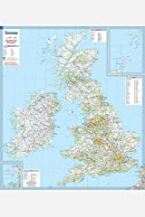 Great Britain & Ireland - Michelin rolled & tubed wall map Encapsulated: Wall Map (Michelin Wall Maps) Map