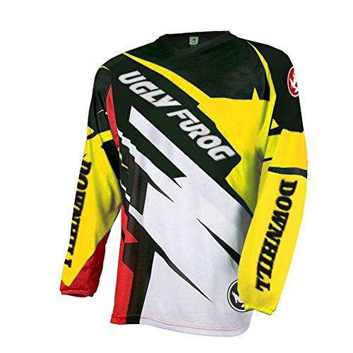 Uglyfrog Winter Fleece Heiß Warm Motocross/Downhill MTB Jersey Trikot MX Enduro Offroad Motorrad Lange Ärmel Jacket Erwachsene Auto & Motorra Wear - Zyklus Lange Ärmel