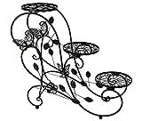HLC Bastidor para macetas - Soporte metálico para hierbas y flores de 73 cm con 3 cestas,color...