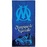 Drap de sport / Serviette de plage OM - Collection officielle - Football - OLYMPIQUE DE MARSEILLE - 75 x 150 cm