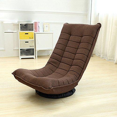 Canapé Chaise Rotatif Tissu Art Loisirs Chaise Paresseuse Pliable Inclinables Bleu \ Brun \ Rouge \ Khaki (Couleur : Marron)