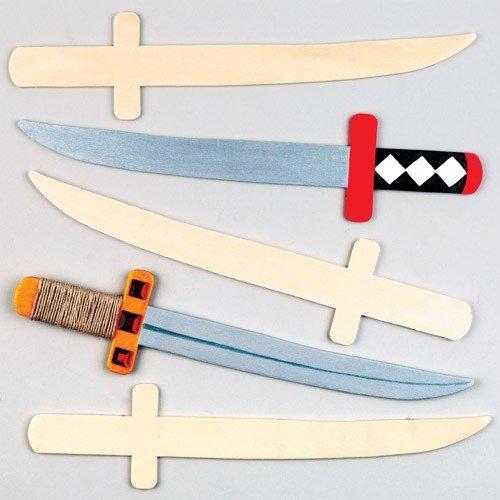 Holzschwerter für kleine Ninjas und Piraten zum