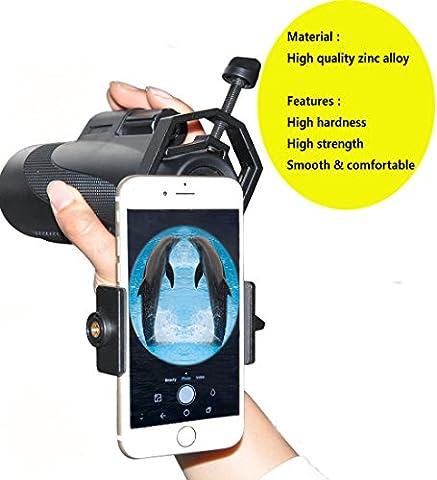 Ulako Adaptateur Smartphone Universel Digiscoping Adapter pour l'astronomie Télescope Jumelles