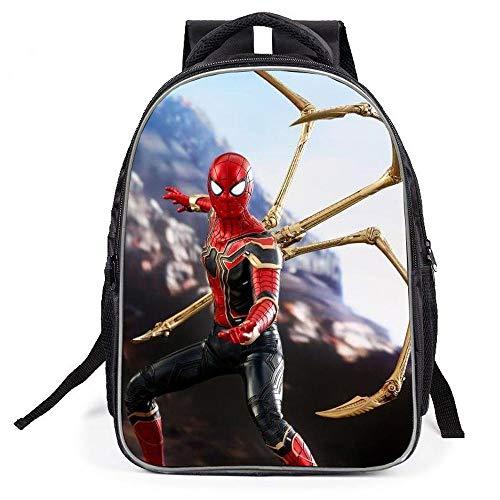 RGLIN Dreiteiliger Rucksack für Kinder Superheld-Rucksack Spider-Man-Rucksack Kinderschultasche Kapazität 20-35L Marvel 1