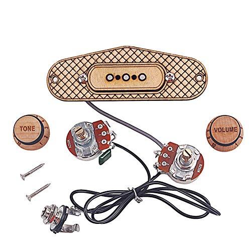 Cutogain Cigar Box Gitarren Tonabnehmer, 3 Saiten langlebiges Musikinstrumentenzubehör für Musikliebhaber
