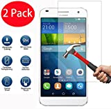 FoneExpert® 2 Pack - Huawei Ascend G7 Panzerglas, Gehärtetem Schutzfolie Glasfolie Hartglas Panzerfolie Bildschirmschutzfolie für Huawei Ascend G7
