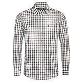 Almsach Herren Trachtenhemd Regular-Fit Trachten-Mode traditionell-kariert s-XXL viele Farben, Größe:XXL, Farbe-Zweifarbig:Braun/Tanne