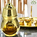 Crystu Vastu/Feng Shui Brass Aroma Incense Burner Camphor Lamp Aroma Lamp Oil Diffuser Oil Burner With Brass Diya