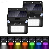 OxyLED Solarlampe Sicherheits, 12 LED Bewegungserkennung, Solar Wandlicht, Zweifacher Bewegungssensor Solar LED Licht, L