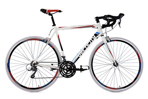KS Cycling Herren Rennrad Velocity RH 57 cm Fahrrad, Weiß, 28