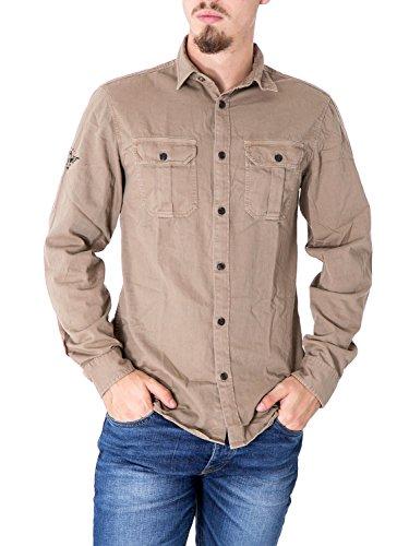 JACK JONES - Homme manches longues slim chemise rochester Mud