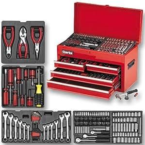 Clarke CHT497 Coffre à outils avec outils 242 pièces