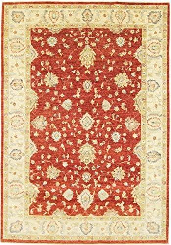 Nain Trading Ziegler Farahan 302x210 Annodato a Mano Tappeto Arancione Orientale Beige Arancione Tappeto Pakistan 5fbe52