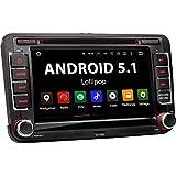 """VW-07A VW / SEAT / SKODA / Android 5.1 Autoradio / Moniceiver / Naviceiver avec navigation GPS + GPS Online App intégré + support WIFI Fonction + Fonction sans fil Bluetooth + Écran tactile de 7""""/18cm 16:9 HD (1024x600 px) + Lecteur DVD / CD + 4x Port USB (jusqu'à 2 TB) + Fente pour cartes SD (jusqu'à 128 GB) + Lecteur multimédia : MPEG4, MP3, WMA, JPEG etc. + Connexions subwoofer, caméra recul, commandes au volant + Dimensions standard double DIN + Antenne GPS inclus"""