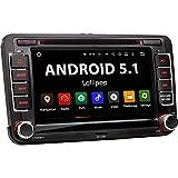 XOMAX XM-07GA Autoradio passend für Volkswagen, Skoda, Seat mit Android 5.1.1 I WiFi, DAB+ Support, GPS Navigation, Bluetooth Freisprecheinrichtung I 7