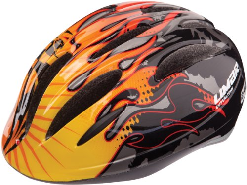 Limar Kinder Fahrradhelm 242 Zubehoer, Light Dragon Flame, 51-56