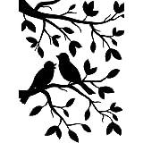Darice 1219-102 - Carpetas de estampación, plantilla rama para pájaros, 10,8 x 14,6 cm, color transparente