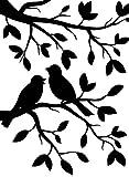 Darice Carpetas de estampación, Plantilla Rama para pájaros, Plastic, 10,8 x 14,6 cm