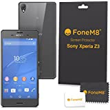 FoneM8� - Sony Xperia Z3 Front And Back Screen Protector (Pack Of 6) Includes 3 Front, 3 Rear - Retail Packed With Microfibre Cleaning Cloth And Application Card