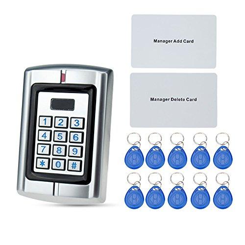 OBO HANDS wasserdichte Zugangskontrolle Maschine Metall RFID 125KHz Kartenleser für elektrische Türverriegelung System W3 Unterstützung 2000 Benutzer (Metall-support-system)