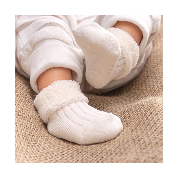 Jacobs Calcetines de recién nacido / Patucos bebé de algodón rizado con motivos ositos - Lote 6 pares (0-3 meses… 4