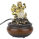 AUNMAS Fließendes Wasser brunnen Harz feng Shui luftbefeuchter Ornament Handwerk für zuhause Bonsai Dekoration Geschenk