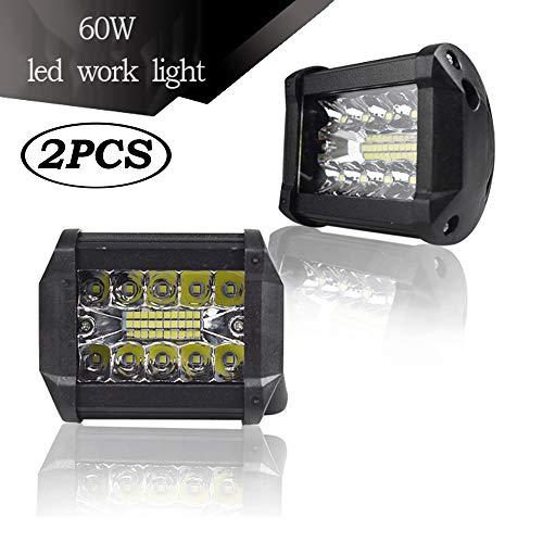 SSCJ Geführter Arbeits-Lichtstrahl, 4 Zoll 60W LED-Lichtstrahl-Flut-Punkt-wasserdichter kombinierter Arbeitslicht-Balken SUV ATV-Jeep-LKW-Nebelscheinwerfer (4-zoll-nebelscheinwerfer Für Lkw)