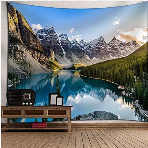 Rjjdd Landschaft Wandbehang Tapisserie Dekorative Natur Meereswellen Hintergrund Dekor Rechteckigen Wandteppich Boho Tagesdecke 130X150cm
