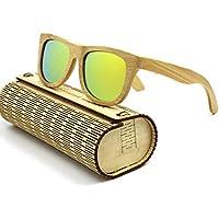 EZREAL 100% uomini o donne polarizzati Wayfarer occhiali da sole in legno di bambù