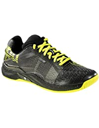 Boys Attack Pro Contender Caution Handball Shoes, Black (Negro/Amarillo Fluor 000), 6 UK Kempa
