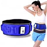 DZQA Electric Body Slimming Belt Heat Function Vibra Vibration Weight Loss Rejection Fat Massage Slimming Machine Slim (L 1.3 meter long)