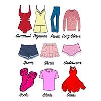Easma Dresser Clothing Decal Girl Dresser Labels for Bedroom Decor Drawer Organizing Stickers