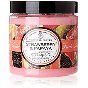Tropical Fruits Strawberry & Papaya Peeling Sugar Scrub 550g| Exfoliating Scrub | Sugar Scrub | Sugar Body Scrub | Body Exfoliator | Koerperpeeling | Shower Scrub