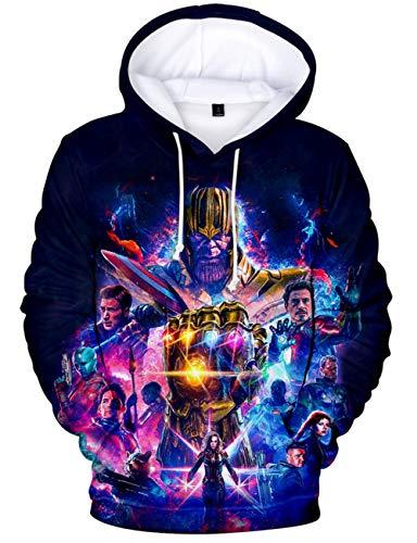 Niño Avengers Endgame Sudadera Rayado Superhéroes