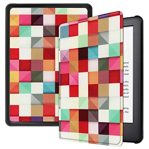 Hotbon Hülle kompatibel mit Der Neuen Kindle 2019,Ultra Schlank Smart PU Leder Case Cover mit Auto Schlaf-/Aufwachfunktion,Schutzhülle für Der Neue Kindle 10.Generation 2019,Square Square Hülle Case