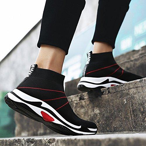 Feifei Zapatos De Hombre Primavera Y Otoño Tiempo Libre Movimiento Calcetines Transpirables Zapatos 2 Colores (tamaño De Opción Múltiple) (color: 02, Dimensiones: Eu42 / Uk8.5 / Cn43) 01