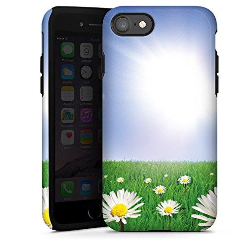 Apple iPhone X Silikon Hülle Case Schutzhülle Gänseblümchen Blumenwiese Sonne Tough Case glänzend