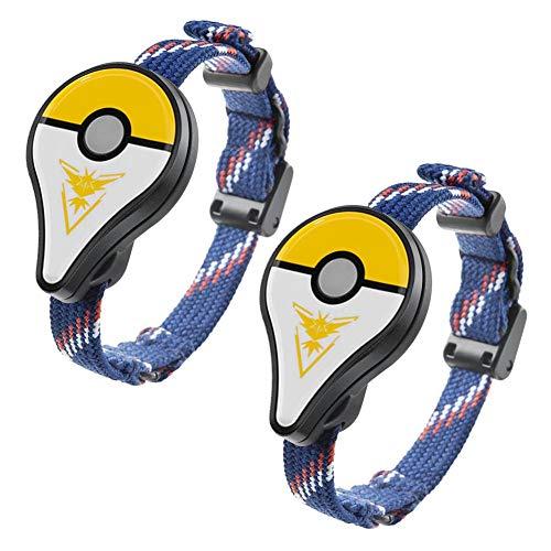 2pcs Bluetooth Armband Interaktive Figur Spielzeug für Nintend Pokemon Go Plus (Werfen Pokemon)