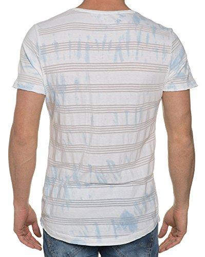 Blend - Weiß mit V-Ausschnitt T-Shirt Weiß