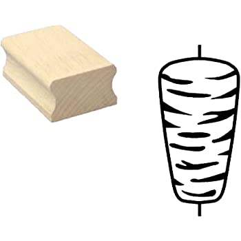 Stempel Holzstempel Motivstempel /« POMMES FRITES /» Scrapbooking Embossing Imbiss Gastro Basteln