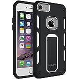 iPone 7 Funda,Pegoo [iPhone 7 iPhone 6 iPhone 6S Caso universal del teléfono] El Soporte Incorporado A Prueba de golpes Anti-Arañazos y Polvo Mezcla Doble Capa Armadura Proteccion Caso Funda Cáscara Caja para Apple iPhone 7 6 6S (4.7) (Blanco)