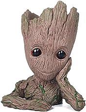 Baby Groot Blumentopf - Marvel Action-Figur aus Guardians of The Galaxy für Pflanzen & Stifte I AM Groot (A)